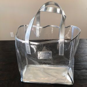 Michael Kors Clear & Silver See Through Tote Bag